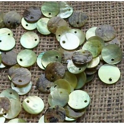100 x 15mm Lime Shell Disc Beads