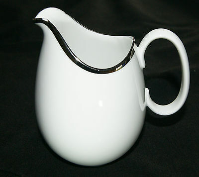 Thomas China Milk Jug - Medallion - Wide Band Platinum In Very Good Condition