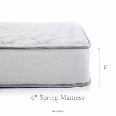 Innerspring Mattress 6-inch Spring Support Firm Bed Medical Hospital Twin Home