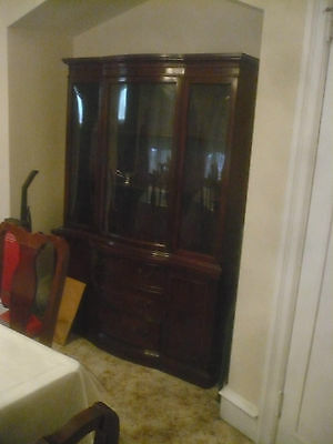 Antique Dining Room Furniture Table Chairs China Cabinet