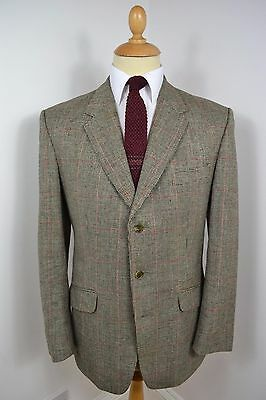 VINTAGE 1960s GREY STEWART CHRISTIE & CO 2 PIECE WORSTED WOOL SUIT LARGE 42 REG