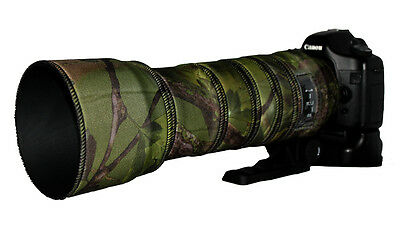 Sigma 150 500mm OS Protective Neoprene lens cover Woodland Green Camo