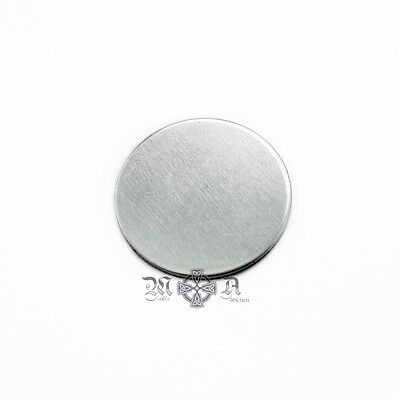 20 x Silver Tone Aluminium 20mm Round Blank Stamping Discs Coins No Holes