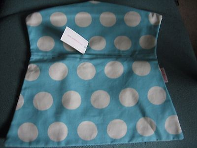 CATH KIDSTON Material Peg Bag - Big Spots on Blue - New With Tags