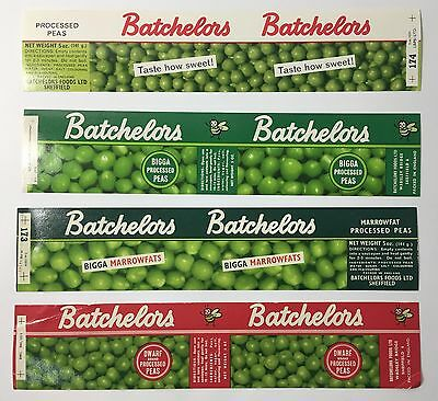 Excellent condition Batchelors British Vintage food tin labels from 1950s 1960s