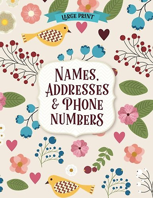 New Large Print Address Book ~ Personal phone numbers, email