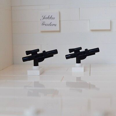 LEGO STAR WARS MINIFIGURE MEDIUM GUN BLASTERS - PACK of 2 NEW GENUINE