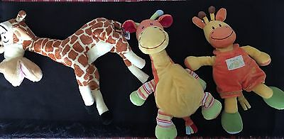 Lot De 3 Peluches (girafe)