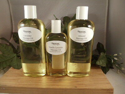 Massage Oil - Scented - 100% Sweet Almond Oil Carrier - All Natural