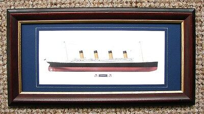 A QUALITY AND VERY COLLECTABLE FRAMED PRINT OF R.M.S. TITANIC by MIKE FULLER