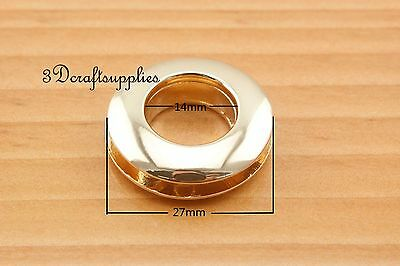 eyelets metal with washer grommets golden Alloying round 6 sets 14 mm CK47