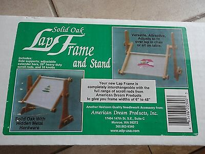 American Dream Solid Wooden Lap frame for embroidery crafts hobbies New in box
