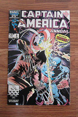 Captain America (1968) Annual #8 Featuring Wolverine F-Vf