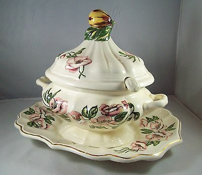 Soup Tureen With Platter And Ladle by Etta Rodgers 15 in. X 12 in. X 10.5 in.