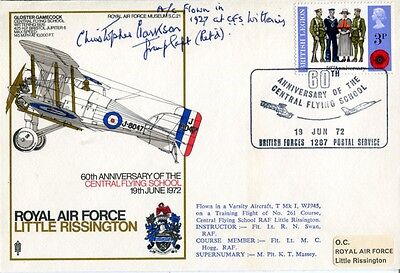 RAF pilot who declared Douglas Bader fit to fly signed cover