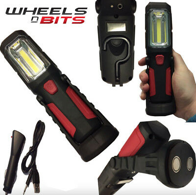 1W+5W Cob Led Rechargeable Cordless Work Light Garage Inspection Lamp Torch