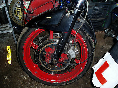 Honda Cbr600 F2 1994 Front Wheel Discs & Tyre Complete Bike Breaking For Spares