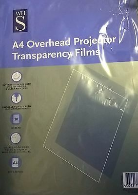A4 Overhead Projector Transparency Films 10 Sheets  coated both sides