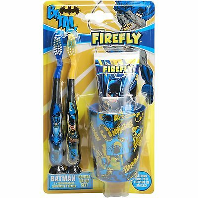 Boys Childrens Firefly DC Batman Dental Set - Great Gift for Fans