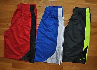 NWT Boys NIKE Athletic Shorts Bermudas Red Gray Blue Black Choose Size