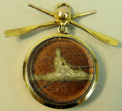 A Fine 15K Gold (Tested) 1886 Rowing Commemorative Brooch - 16.3 Grams