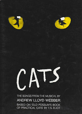 Cats Musical Songbook Piano/Vocal/Guitar mit Akkord Symbolen