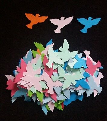 50x Flying Dove Bird Die Cuts, Paper Craft Punch, Cardmaking, Scrapbook Confetti