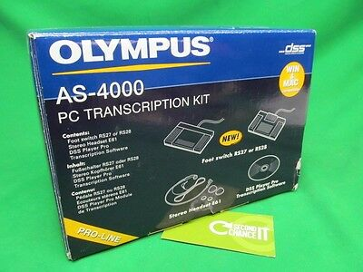 Olympus AS-4000 Pro-Line PC Transcription Kit RS27 147-575 DSS w/out software