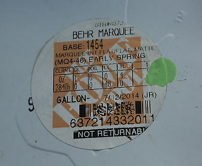 1 BEHR Marquee Flat Matte Paint One Gallon Early Spring Color similar mint color