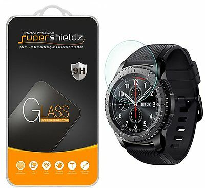 """[2-Pack] Samsung Gear S3 Frontier Tempered Glass Screen Protector, Updated """"Full"""