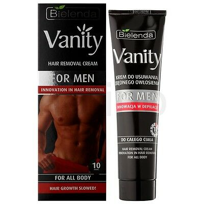 PL/ Bielenda Vanity Man  Hair Removal Cream For Full Body. Dermatologi Tested