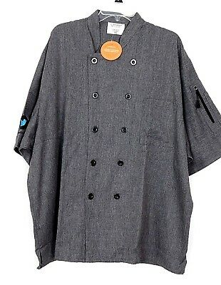 Happy Chefs Restaurant  Chef Coat Jacket size 3XL
