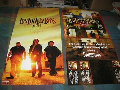 LOS LONELY BOYS-(sacred)-1 POSTER-2 SIDED-12X24-MINT-RARE