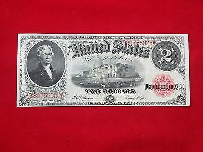 FR-60 1917 Series $2 Two Dollar United States Legal Tender Note *Extremely Fine*
