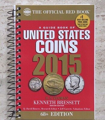 """2015 - """"The Official Red Book"""" - US Coins - Spiral 68th Edition - NEW"""