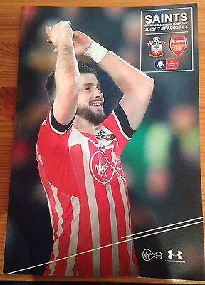 FA Cup 02 Saints Vs Arsenal.         28th January 2017 *OFFICIAL PROGRAMME*