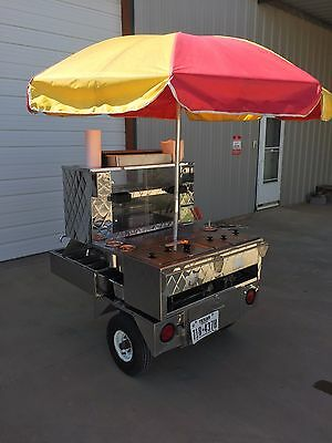 Custom Mobile Food Equipment 525 Hot Dog Food Concession Cart w/Trailer & ACC's