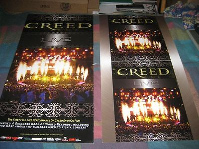 CREED-(live)-1 POSTER-2 SIDED-12X24-MINT-RARE