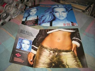 BRITNEY SPEARS-(in the zone)-1 POSTER-2 SIDED-12X18-NMINT-RARE