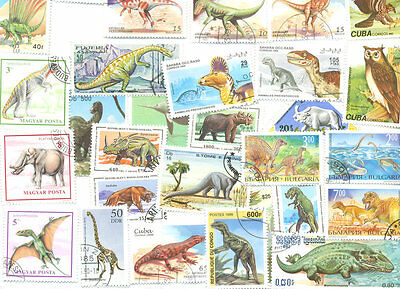 Prehistoric & Extinct Wildlife-500 all different collection-Reptiles-Birds-Fish