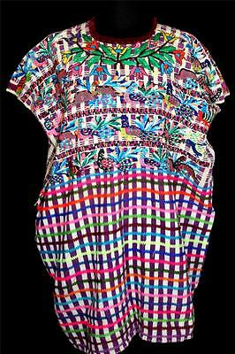 Very Rare Vintage 1950's Guatemalan Hand Woven Embroidered Cotton Top Size M-L