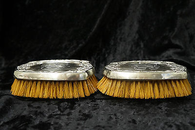 Antique Sterling Silver Art Noveau Horse Hair Brush Lot of 2