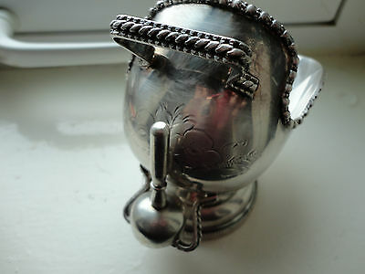 Silver Plate Sugar Scuttle And Scoop Will Be Sent Signed Recorded