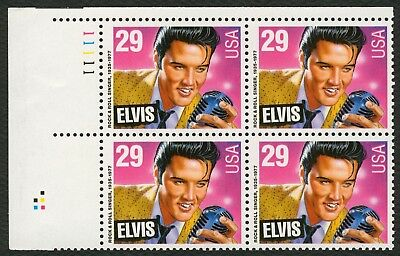 #2721 29c Elvis Presley, Plate Block, Mint **ANY 4=FREE SHIPPING**