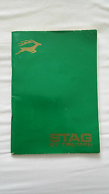 Triumph Stag ORIGINAL authentic owners manual. NOT re-print.