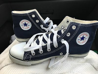 "Vintage Blue CONVERSE USA High Tops ""Chucks"" Chuck Taylor All Star Shoes 9.5 M"