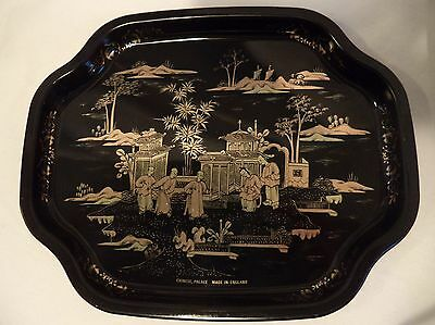 Vintage Elite Mid Century Metal Tip Dresser Tray Chinese Palace Made in England