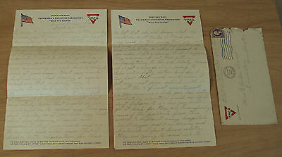 """1918 WWI LETTER~From HOSPITAL~""""War Bonds/FUTURE""""~""""AMERICAN EXPEDITIONARY FORCE""""~"""