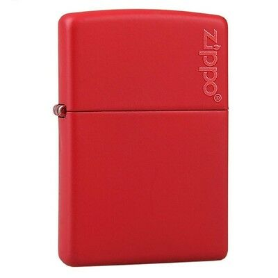 Red Zippo Lighter With Logo. Red Matte Finish. BNIB And Genuine!