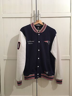 New England Patriots Letterman NFL Jacket - Men's Medium